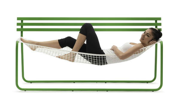 Siesta By Emanuele Magini For Italian Furniture Maker Campeggi Is A  Hammock Like Bench That Combines The Silhouette Of A Traditional Wooden  Bench With The ...