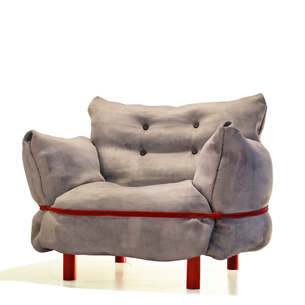 Concrete Cloth Chair by Sedish Ninja