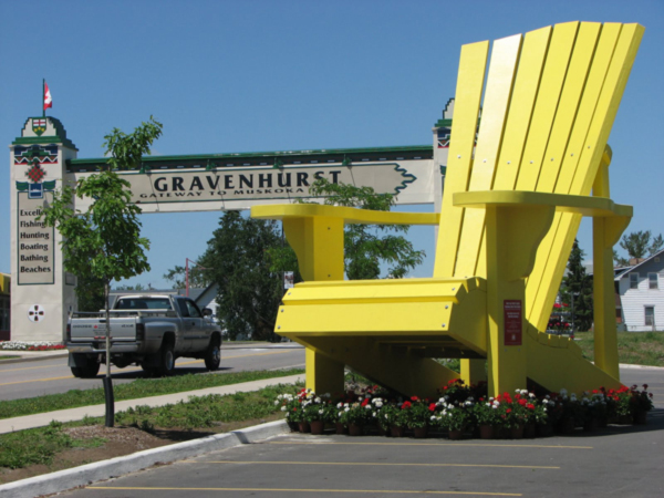 Giant Yellow Muskoka Chair