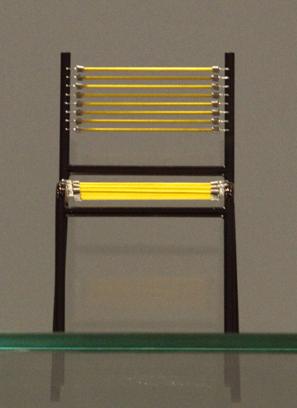 Yellow Mini Sandows Chair by Rene Herbst