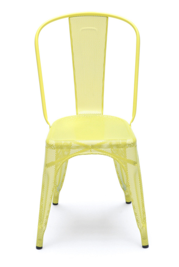 Yellow Perforated A Chair by Chantal Andriot
