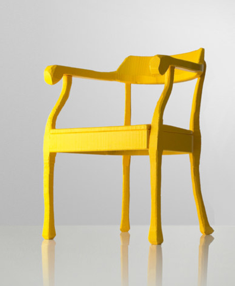 yellow raw lounge chair by jens fager