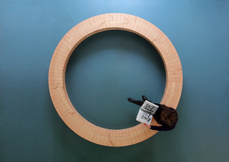 Wood Ring Bench by Chris Kabel
