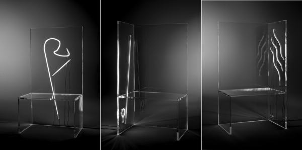 Kartell Per Bob Wilson : Electric chairs by robert wilson for kartell at teatro