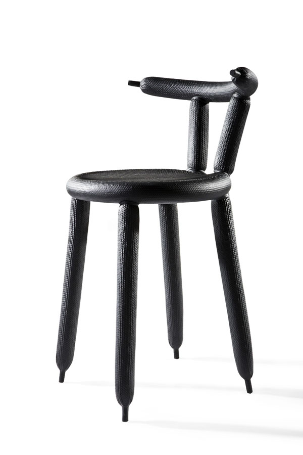 Black Carbon Balloon Chair by Marcel Wanders