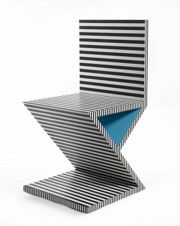 Neo Laminati Chair no 34 or Z or zig zag side