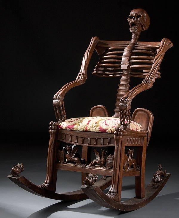 skeleton rocking chair