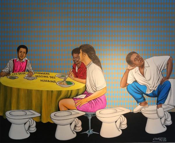 Sit Eat and Chit by Cheri Samba I56A1178
