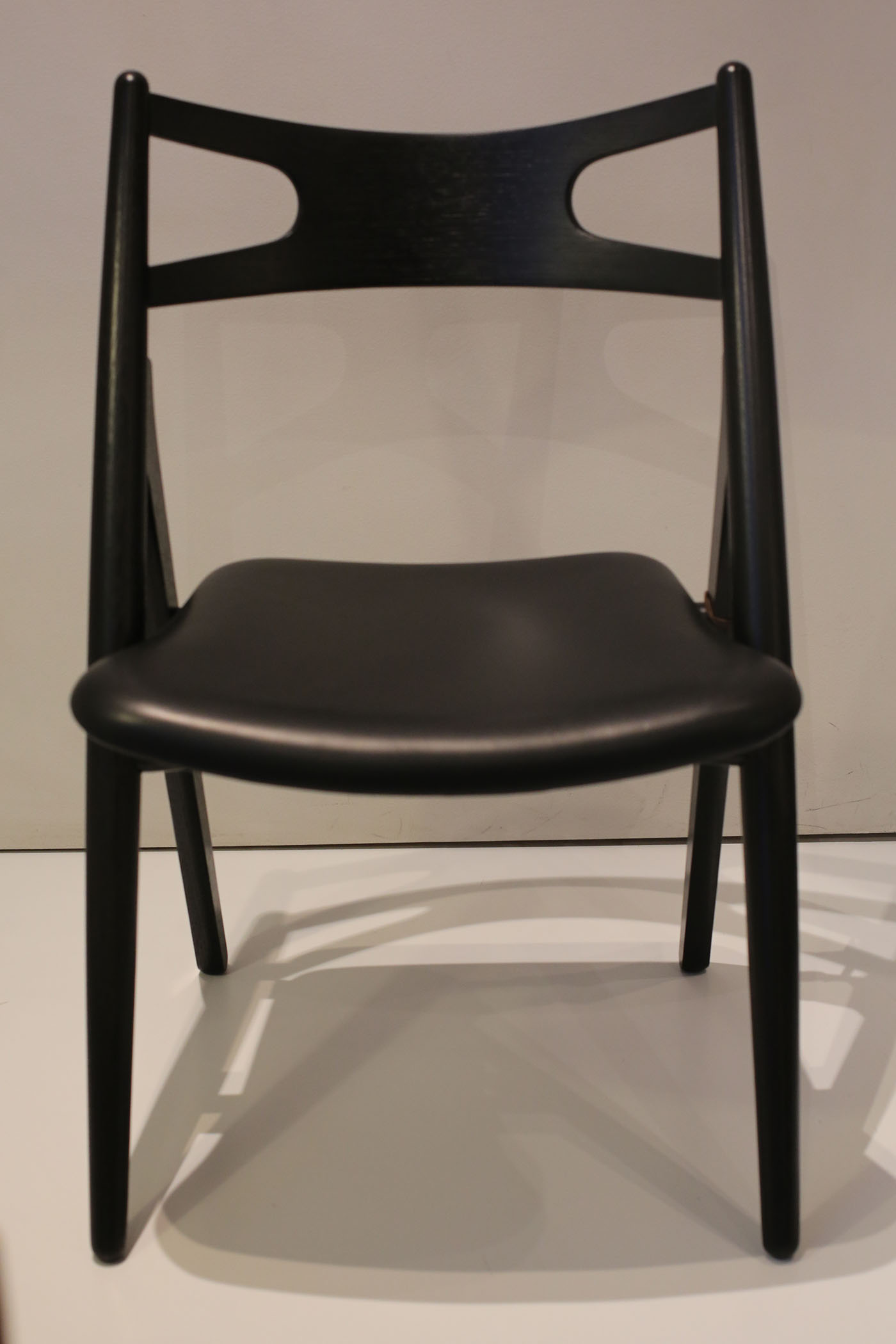 Black CH 29 or Sawbuck Chair by Hans Wegner Chairblog