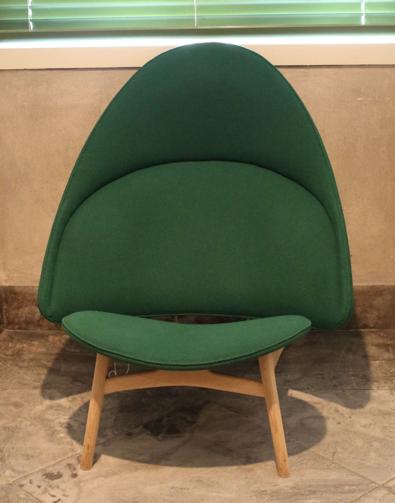 Green Tub Chair by Hans Wegner