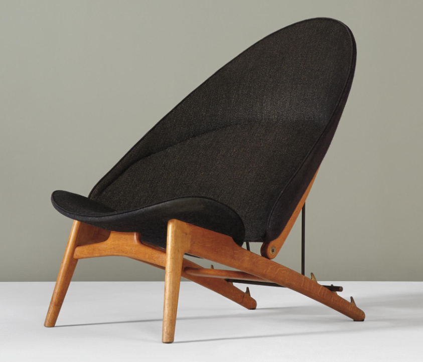 Black Tub Chair by Hans Wegner