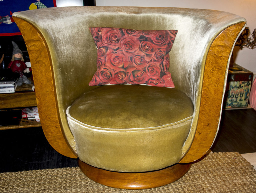 Art Deco Tulip Chair by Hotel Le Malandre