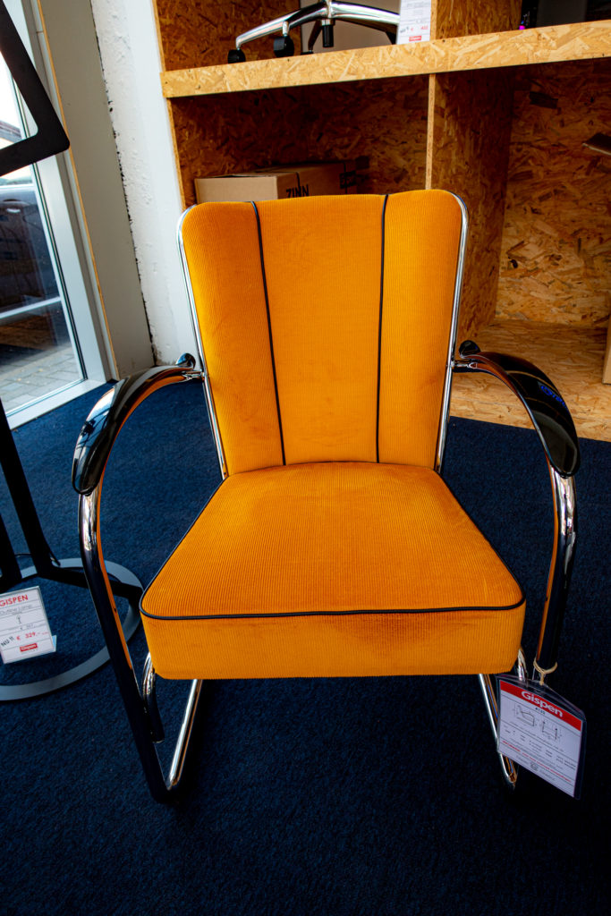 Yellow W.H. Gispen Chair no 412