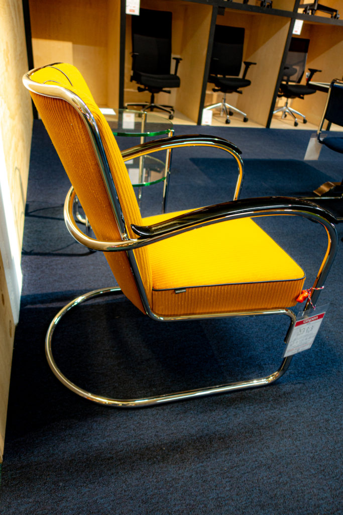 Bright Yellow W.H. Gispen Chair no 412