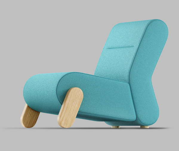 BASE Easy Chair by Redo Design Studio Blue