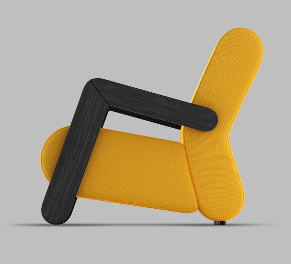 BASE Easy Chair by Redo Design Studio Yellow