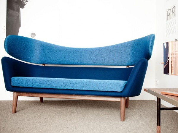 blue baker sofa by finn juhl. Black Bedroom Furniture Sets. Home Design Ideas