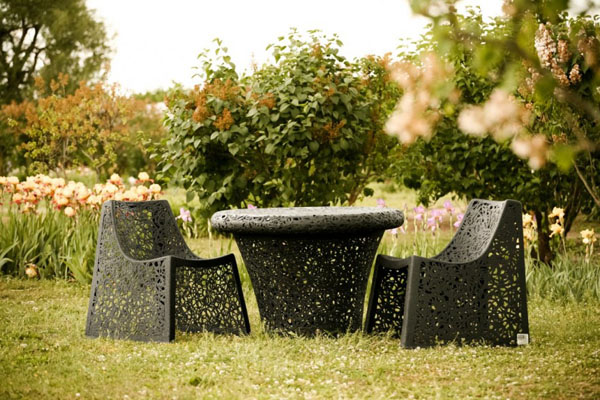 Basalt Fiber Outdoor Chairs by Raimonds Cirulis Set