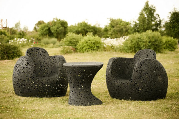 Basalt Fiber Outdoor Chairs by Raimonds Cirulis