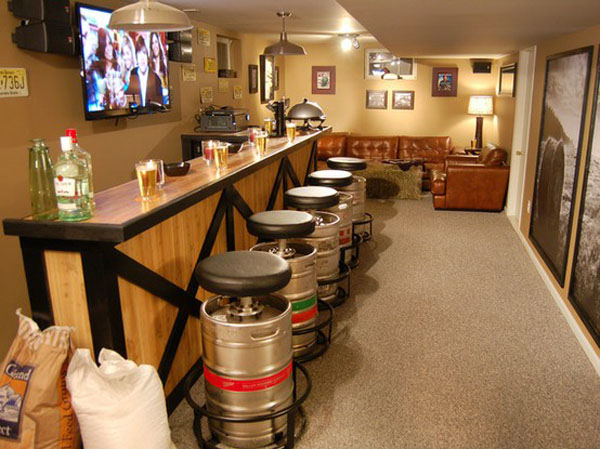 Man Cave Bar Stools Canada : Beer barrel bar stools chair eu