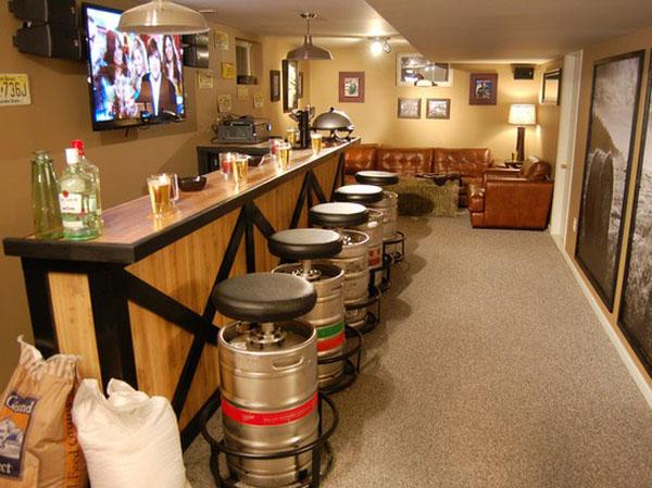 Beer Barrel Bar Stools