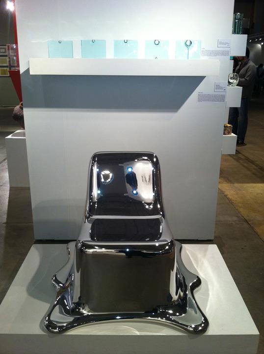 Black Melting Chair by Philipp Aduatz