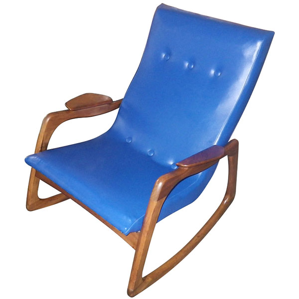 Blue Adrian Pearsall Craft Associates Rocker