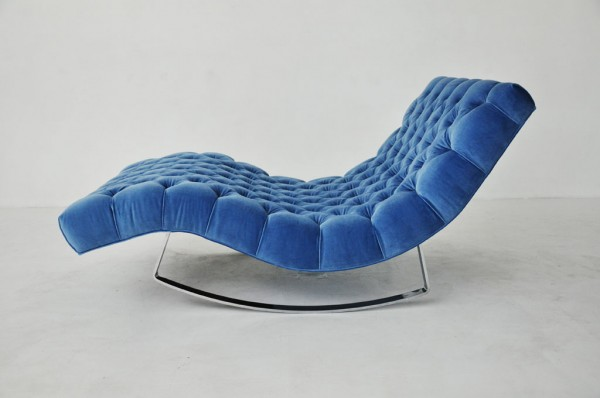 Blue Adrian Pearsall Rocking Chaise