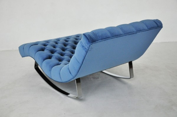 Blue Adrian Pearsall Rocking Chaise back