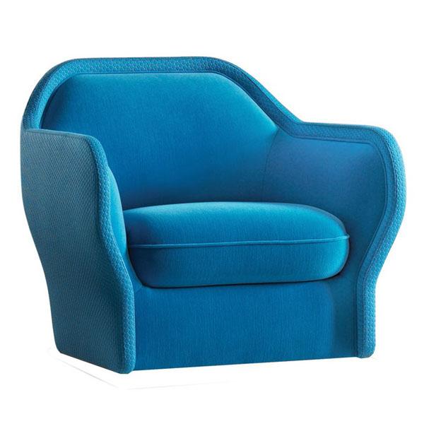 Blue Bardot Armchair by Jayme Hayon