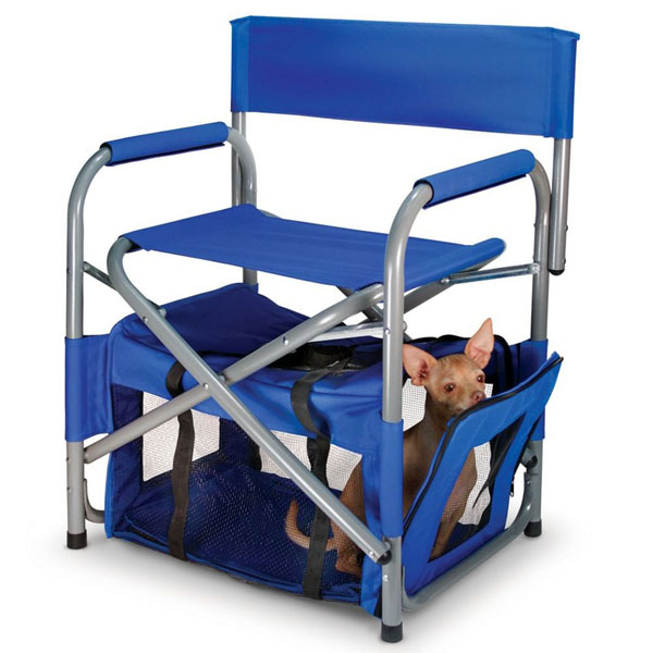 Blue Chair And Pet Quarters