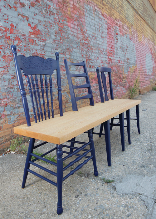 Blue Chair - Bench