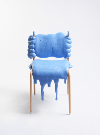 Blue FFF Chair by Therese Granlund Front