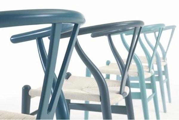 Blue Hues of Hans Wegner Wishbone Chair