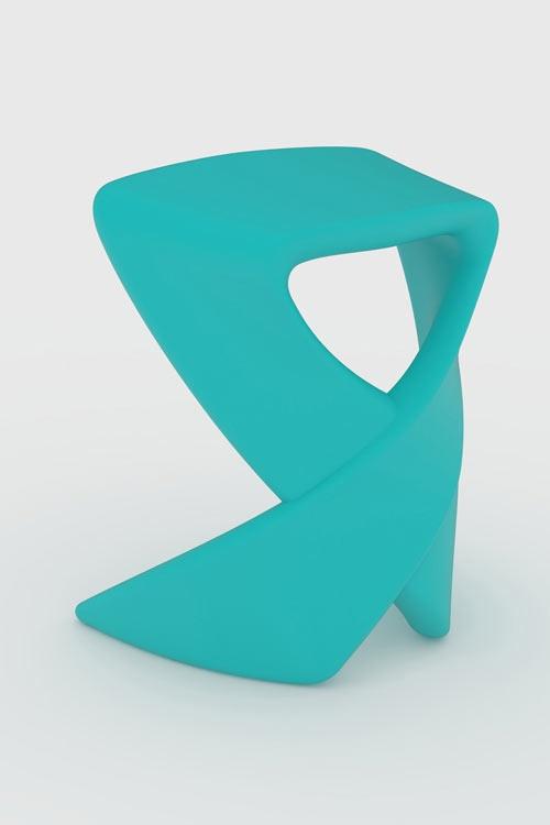 Blue Ribbon Stool by Raw Studio