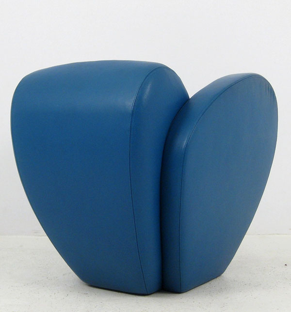Blue Size Ten lounge chair by Ron Arad Back