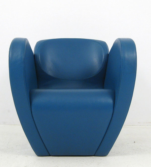 Blue Size Ten lounge chair by Ron Arad