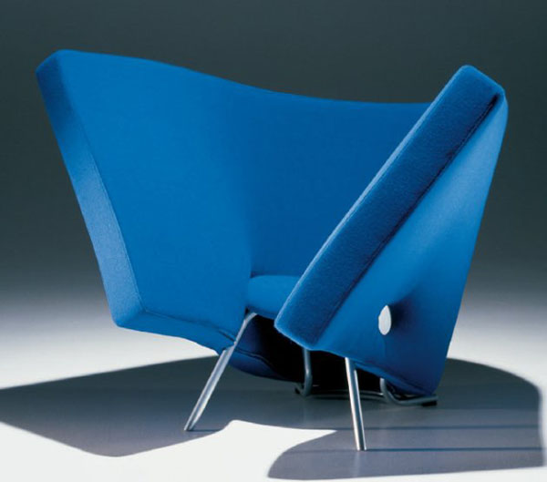Blue Soft Easy Chair by Kai Korhonen