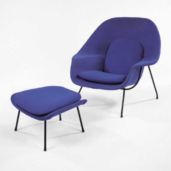 Blue Womb Chair by Eero Saarinen