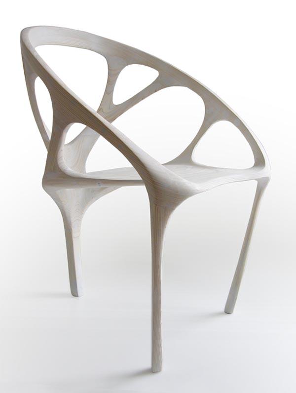 Brazil White Chair by Daniel Widrig