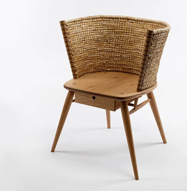 Brodgar straw back chair by Gareth Neal and Kevin Gauld