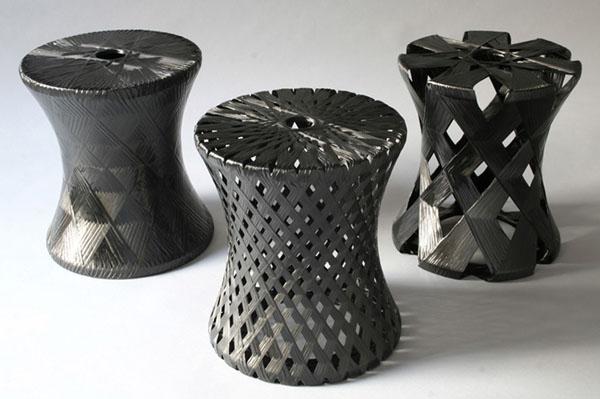 Carbon Fiber stool by Moorhead+Moorhead