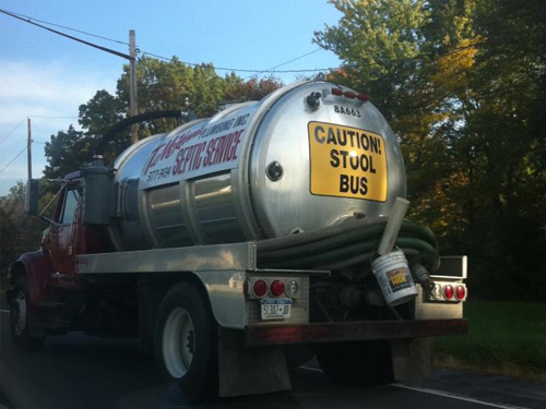 ...and the other meaning of Stool: Caution Stool Bus