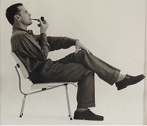 charles eames seated. Black Bedroom Furniture Sets. Home Design Ideas