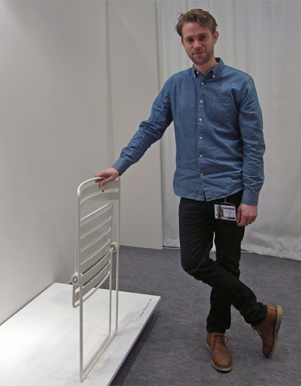 Coiled Folding Chair with Tomas Jenkins
