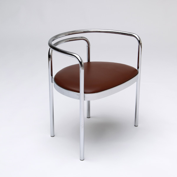 Poul Kjaerholm  PK 12 chair in steel tubing