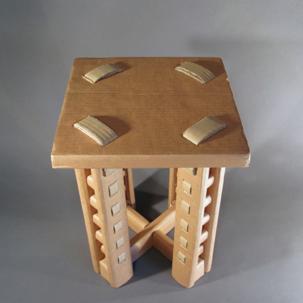 Cool Cardboard Stool by Ori Yekutier