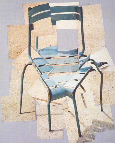 Deconstructed Chair painting by David Hockney