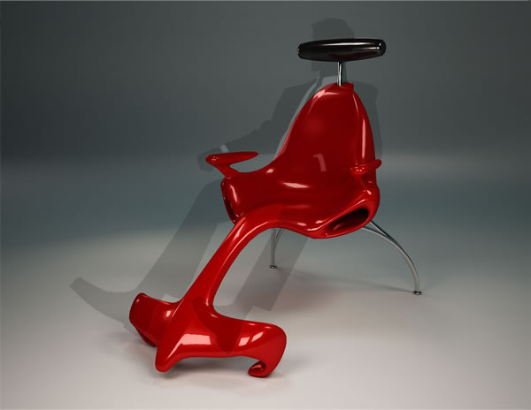 F1 - Lounge Chair by  Alexander Christoff Side view