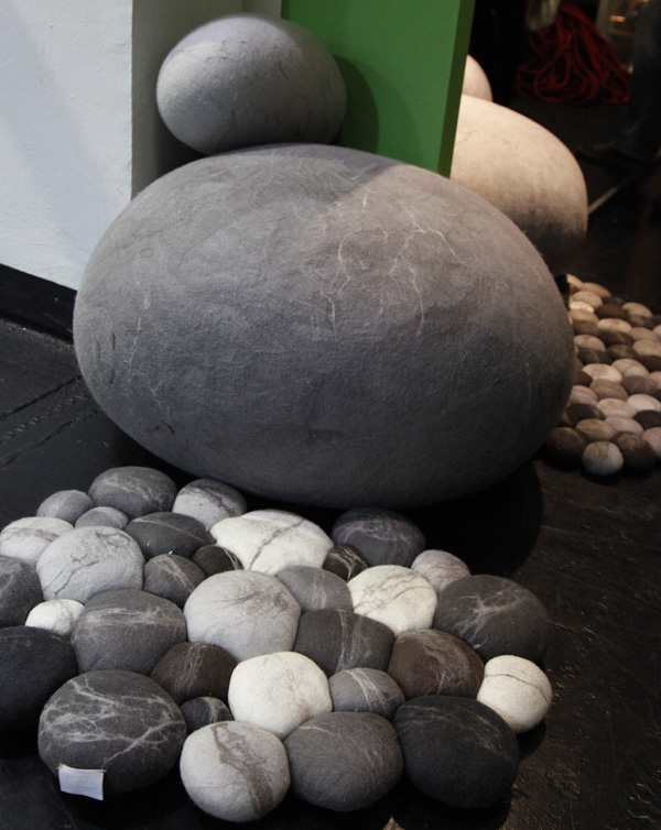 Felted-Rock-Cushions-by-Ronél-Jordaan